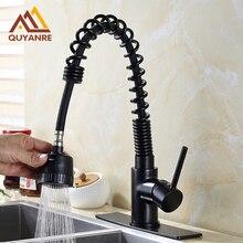 Высокое качество для ванной раковина кран Pull Down распылителя носик 6 дюймов отверстие крышки кухня смеситель