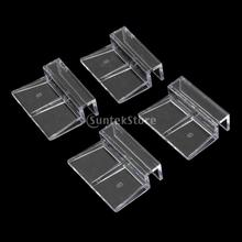 4x Aquarium Fish Tank Plastic Clips Glass Cover Strong Support Holders Free shipping 6mm, 8mm, 10mm, 12mm Glass