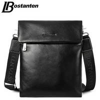 BOSTANTEN Cow Real Genuine Leather Fashion Men Bags Men Messenger Bags Small Business Men Travel Crossbody
