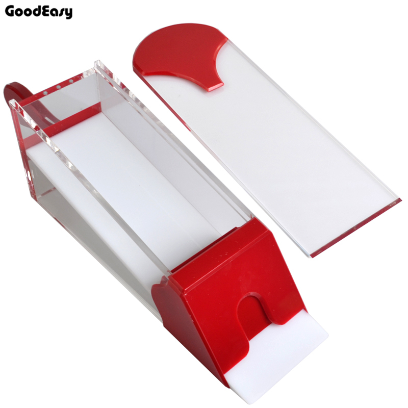 HOT Professional Ordinary Acrylic Card Shoe Transparent Red 1-8 pack Pokers Manual Card Shoe with Cover large format printer spare parts wit color mutoh lecai locor xenons block slider qeh20ca linear guide slider 1pc