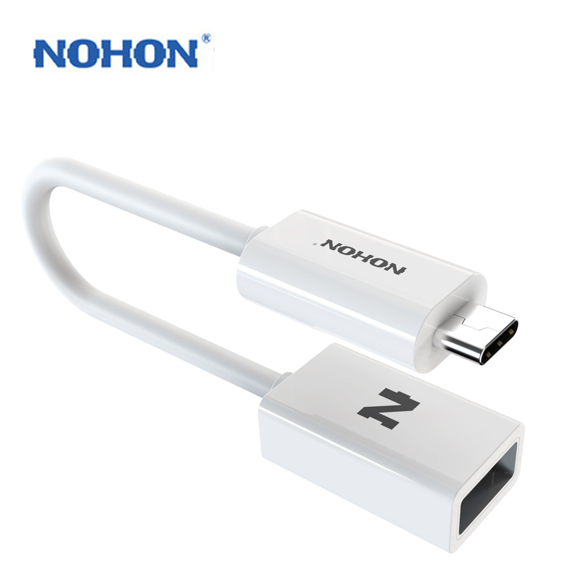Original NOHON Type-C USB 3.0 OTG TPE Data Cable Fast Transmmision Speed Support U Disk MP3 Smart Phone Keyboard Card Reader