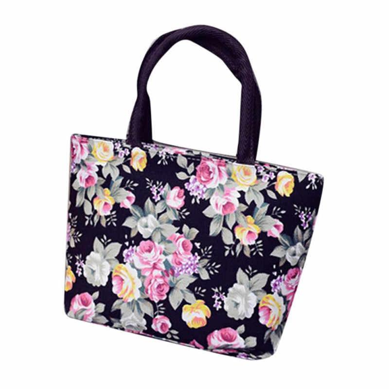 ec2677554d28 2017 Fashion Women Girls Printing shopping bags Canvas Shopping Hand  Shoulder Tote Shopper Bags canvas shopping