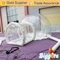 Inflable Biggors Acampar Al Aire Libre Carpa de Césped Inflable Burbuja Transparente Con Túnel de Envío por Vía Marítima