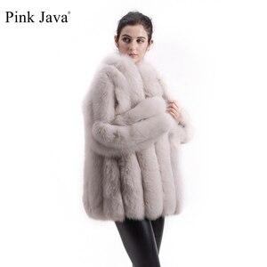 Image 1 - PINK JAVA QC1824 real fox fur coat women fur coats winter jacket natural fox clothes hot sale  high quality  fur overcoat