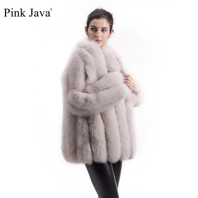 PINK JAVA QC1824 real fox fur coat women fur coats winter jacket natural fox clothes hot sale  high quality  fur overcoat