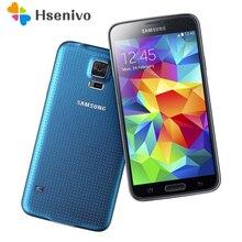 Débloqué Original Samsung Galaxy S5 SM-G900 Quad-core 3G & 4G Smartphone GPS WIFI 5.1 pouces 16MP caméra GPS Rénové téléphones Cellulaires