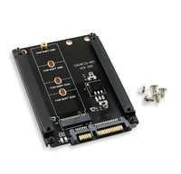 Boîtier en métal B + M clé M.2 NGFF SSD à 2.5 SATA 6 Gb/s carte adaptateur avec boîtier Socket M2 NGFF adaptateur avec 5 vis