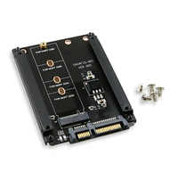 Caixa de metal b + m chave m.2 ngff ssd para 2.5 sata 6 gb/s adaptador com soquete do cerco m2 ngff adaptador com 5 parafuso