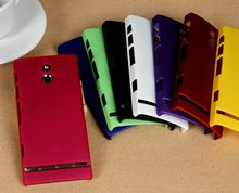 Hybrid Hard Case For Sony Ericsson Xperia P LT22i Case In High Quality +10 Colors Available + Free LCD Screen Protector(China)
