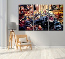 Modern Unique Artwork 3 Panel Comics Carnage Venom Painting Home Decorative Children Room Wall Gift On Canvas Print Type Picture