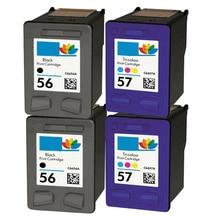 4x Compatible Ink Cartridge for HP56 HP57 black / C6656A Colour C6657A HP Deskjet 450 450ci 450wbt Printer450cbi