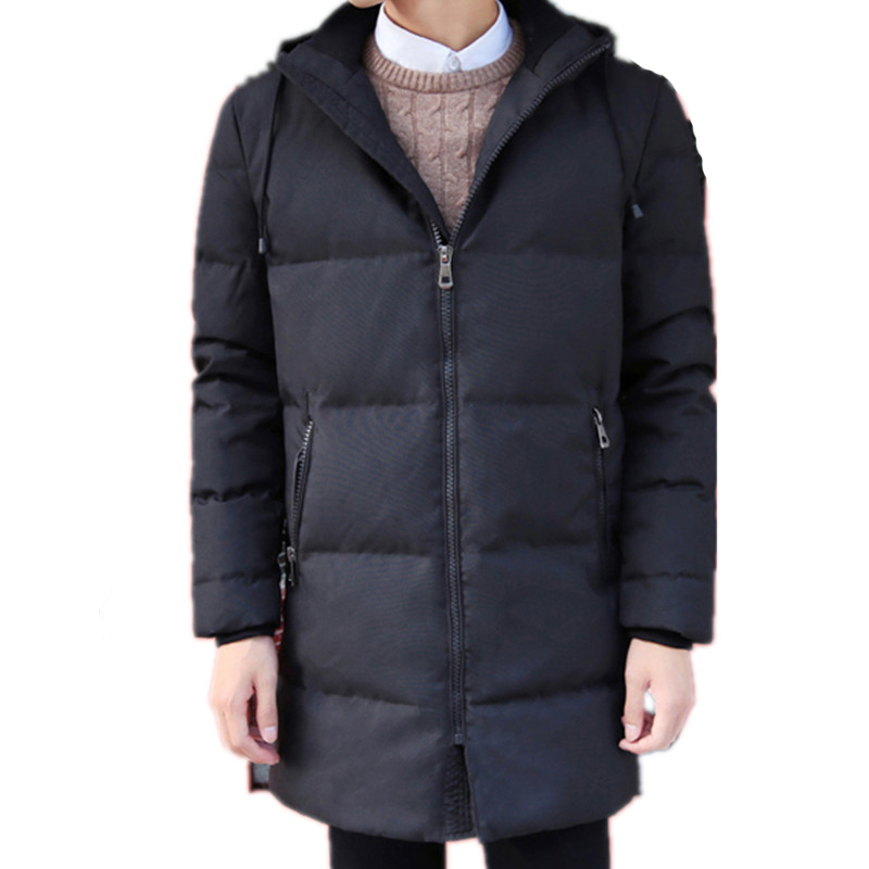 2016 new arrivl winter style dress high quality fashion leisure thickening long white duck feather   down     coat   overcoat M-3XL