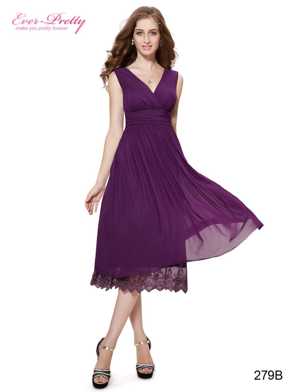 Summer Dresses For Women Mesh Casual Dresses He0279 Ever Pretty Sexy Purple Ruched -2462
