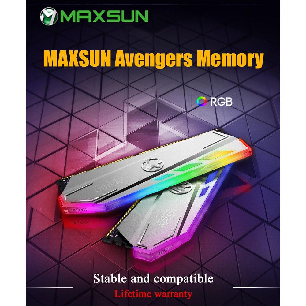 MAXSUN RAM DDR4 8GB/16GB Desktop Memory 2400MHz memory voltage 1.2V 17-17-17-39 Lifetime Warranty 288pin Flash Light Single RAMs 1