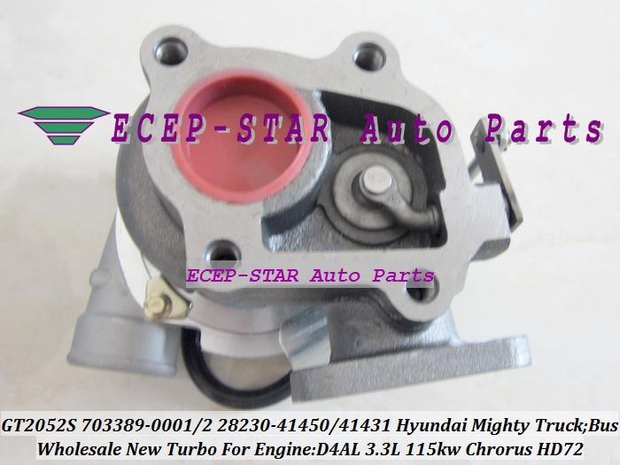 Картридж Turbo CHRA GT2052S 703389 703389-0002 28230-41450 Турбокомпрессор Для Hyundai грузовик могучий II Chorus bus HD72 3.3L D4AL