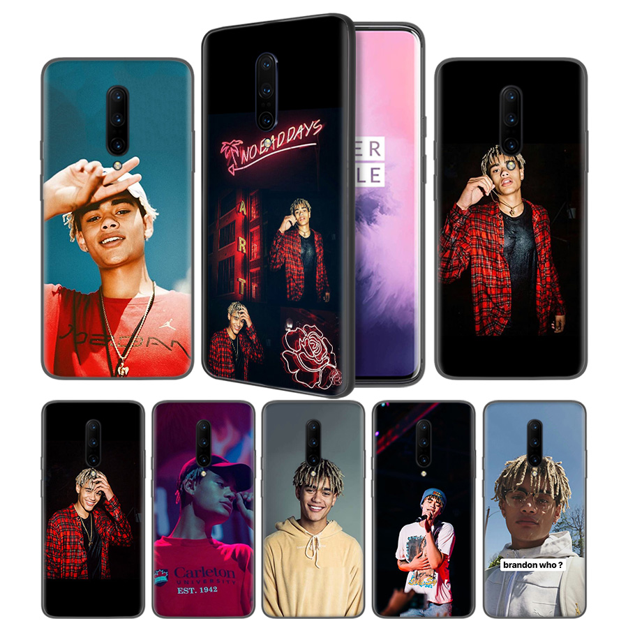Zion Kuwonu Prettymuch Soft Black Silicone Case Cover for font b OnePlus b font 6 6T