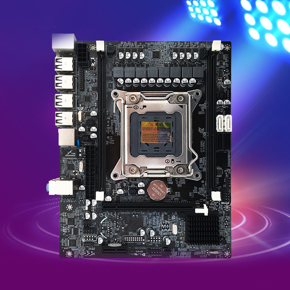 Carte mère d'ordinateur USB haute compatibilité double indicateur SATA 3.0 Mini mémoire de bureau carte mère REG ECC accessoires X79 E5 CPU