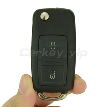 ФОТО Flip car remote key for VW for Volkswagen Golf Lupo Passat Polo 2 button 1J0 959 753 N ID48 chip 433 Mhz remotekey