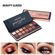 цены BEAUTY GLAZED Natural Matte Eyeshadow Makeup Palette 14Colors Soft Pressed Powder Eye Shadow Pallete Pigmented Eyeshadow Palette