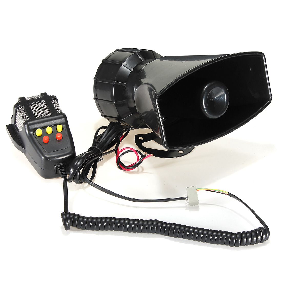 Gehorsam 12 V Trompeten Horn Lautsprecher Miniphone Auto Moto 105db Kuh + Sirenen + Songs SchöN Und Charmant