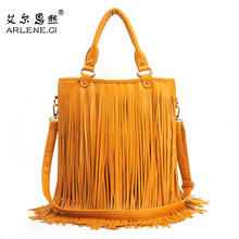 Casual Tote 2016 New Vintage Leather Tassel Crossbody Bags Women Messenger Famous Brands Designer Shoulder Bags Bolsas Feminino