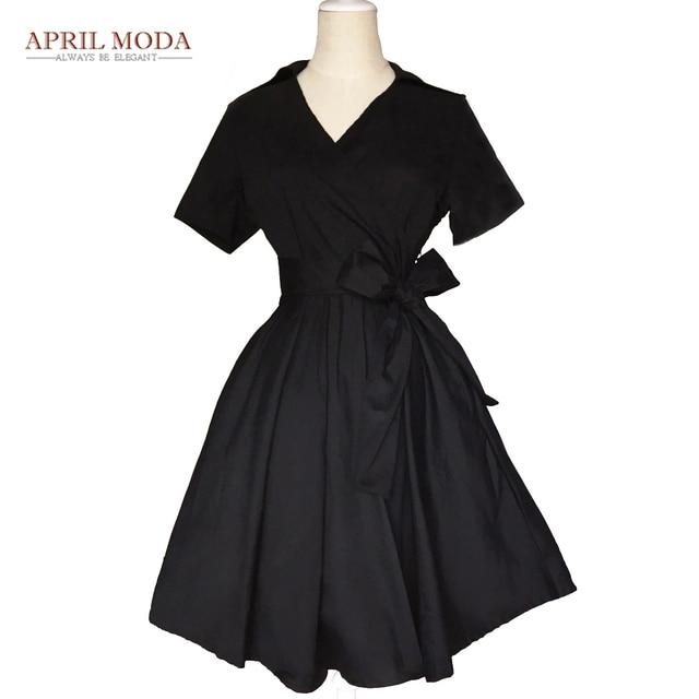 April Moda 50s 60s Vintage Dresses Audrey Hepburn 2017 New style Summer  Retro Party Dress Vestidos b7b37efff840