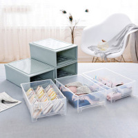Plastic drawer storage box 10 compartment underwear storage cabinet 15 grid underwear storage box bedroom storage cabinet