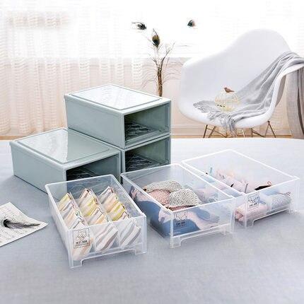 Tiroir plastique boite de rangement 10 compartiment sous-vêtements meuble de rangement 15 grille boîte de rangement lingerie chambre meuble de rangement