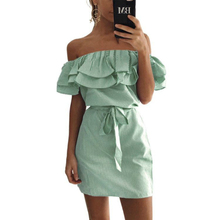 Summer Striped Dress with Frill