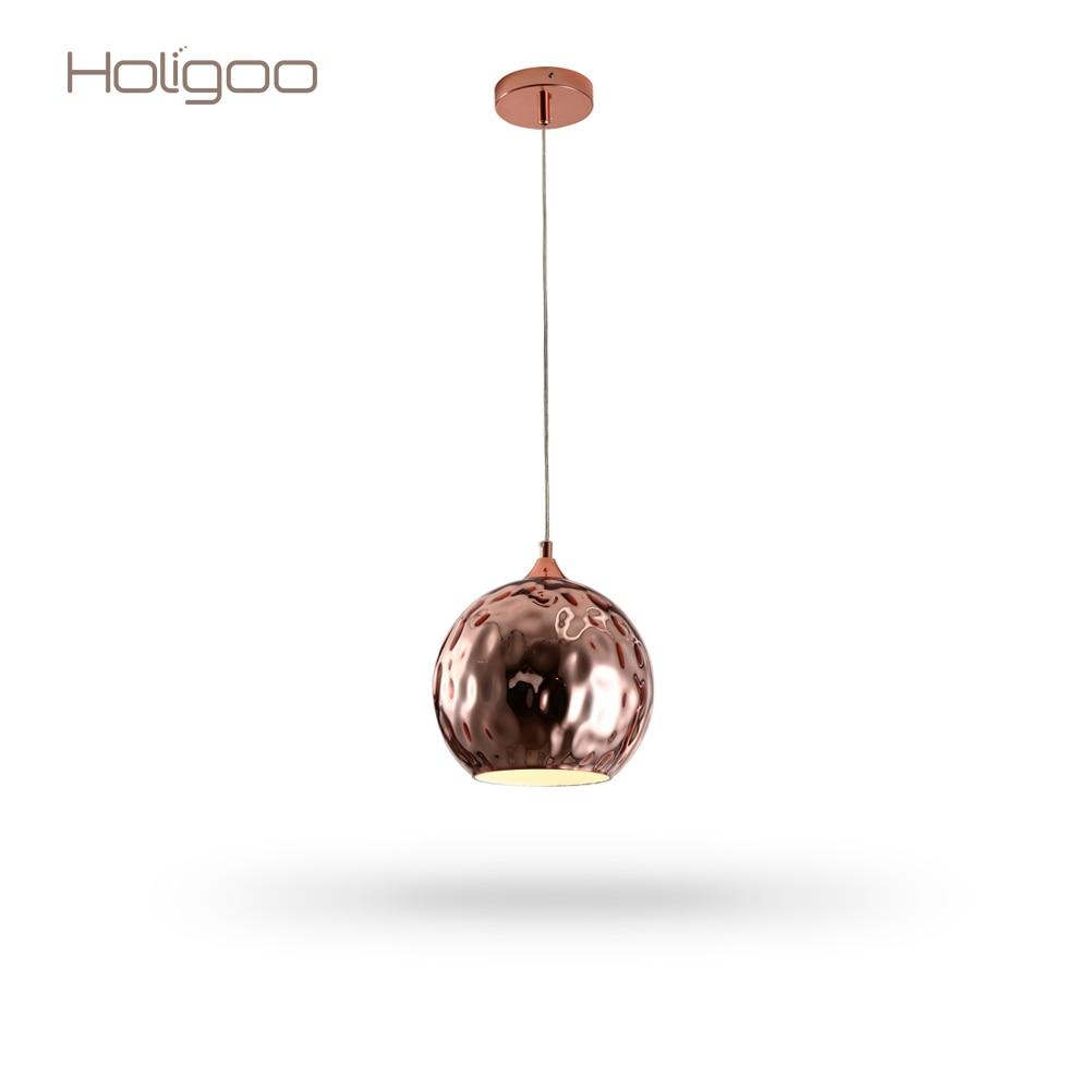 Holigoo Glass Ball Pendant Lights Globe Lampshade Pendant Lamp Kitchen Hanging Lamp Light Fixture Lustre Led Ceiling luminaire