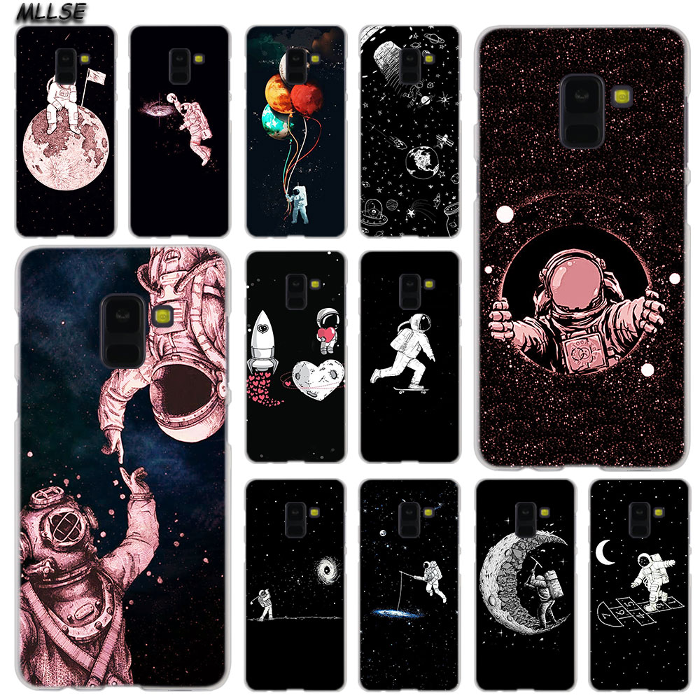 Sunny Mllse Space Moon Astronaut Fashion Case Cover For Samsung Galaxy A6 A8 Plus A9 A7 2018 A5 2016 2017 A6s A9star Note9 8 5 4 Hot Cellphones & Telecommunications Half-wrapped Case