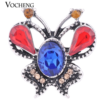 4 Colors Crystal Endearing Butterfly Vocheng Ginger Snap Jewelry Vn-1149 image