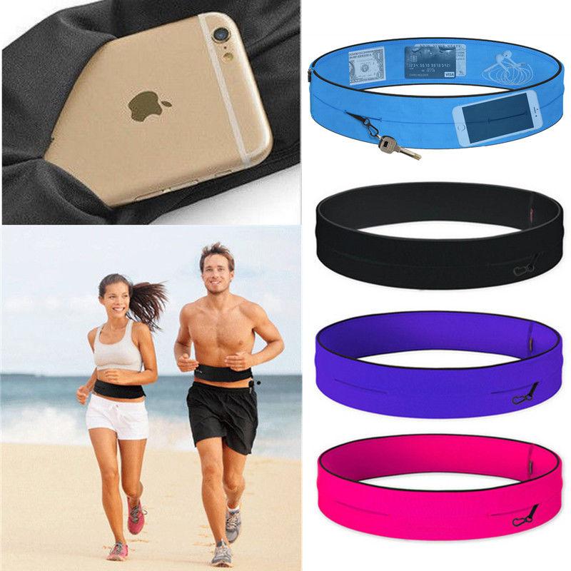 Bolsa de cintura profesional para correr para hombres y mujeres bolsa de deporte de gimnasio Trail Invisible teléfono móvil dinero corriendo cinturón riñonera