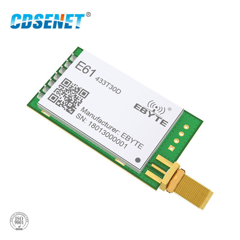 433MHz Embedded 1W Wireless Rf Module E61-433T30D UART CDSENET Serial Port Wireless 433 MHz Transmitter Receiver Modbus Module