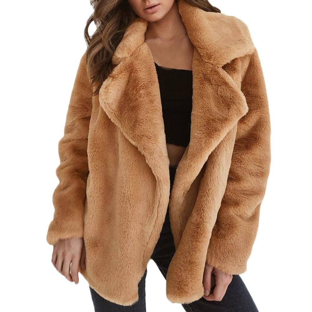 Vetement Femme 2018 Faux Fur Coat Teddy Coat Winter Coat Women Winter Warm Fur Coats Ropa De Mujer 2018 Invierno