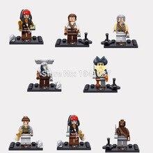 Wholesale Minifigure XSZ Pirates of the Caribbean Captain Jack Sparrow Building Blocks Sets Model Bricks Figure Toy For Children