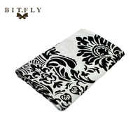 10pcs Luxury 30x275cm Black And White Flocking Table Runners Quality Tablecloth Wedding table runners wedding home decoration