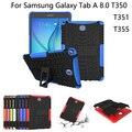 Hybrid Стенд Футляр PC + TPU Резиновая Броня Чехол Для Samsung GALAXY Tab A 8.0 T350 T351 SM-T355 Tablet чехол + экран пленка + ручка + OTG