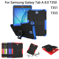Hybrid Stand Hard PC TPU Rubber Armor Case Cover For Samsung GALAXY Tab A 8 0