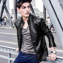 New winter men's casual collar Slim fashion import pu leather men jacket