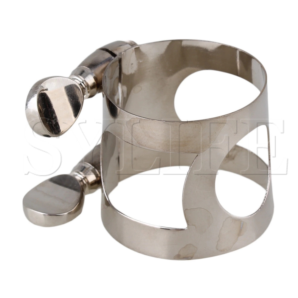 Nickel Plated Clarinet Mouthpiece Ligature With Double Screws Adjust