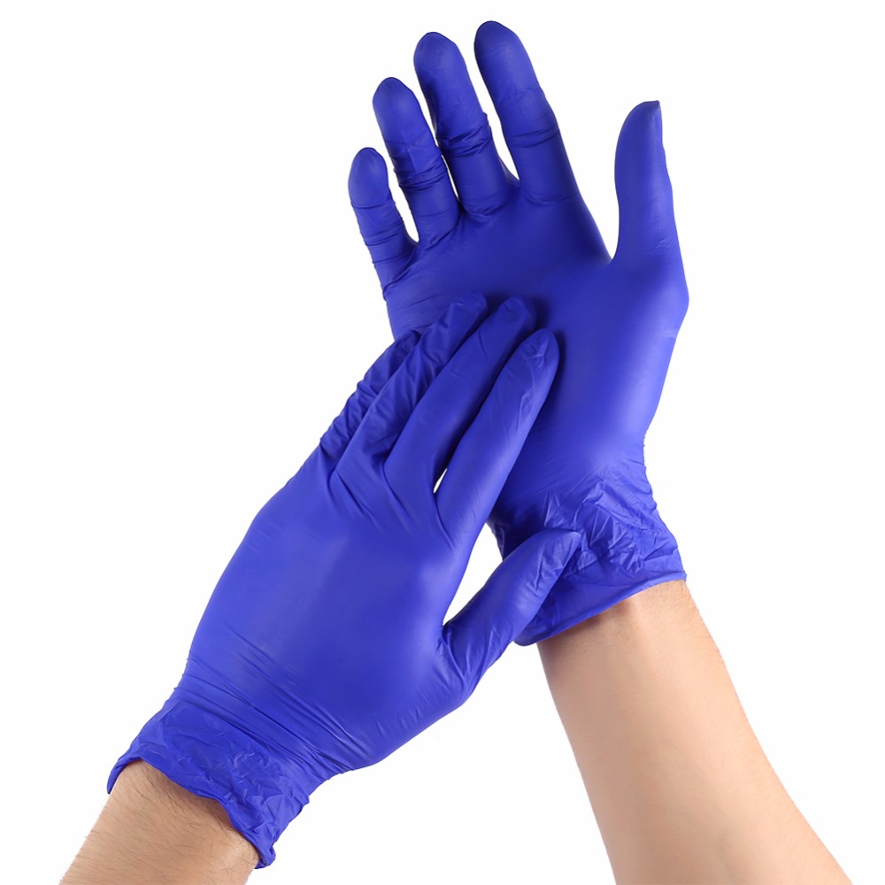 Cleaning & Janitorial Supplies Kind-Hearted 100 Medium Blue Disposable Vinyl Gloves Business & Industrial