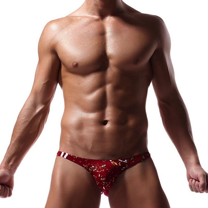 2019 Men Briefs Underwear Sexy Breathable Brief Underpants Modal Comfortable Printed Briefs Underwear Shorts Cueca Male Panties(China)