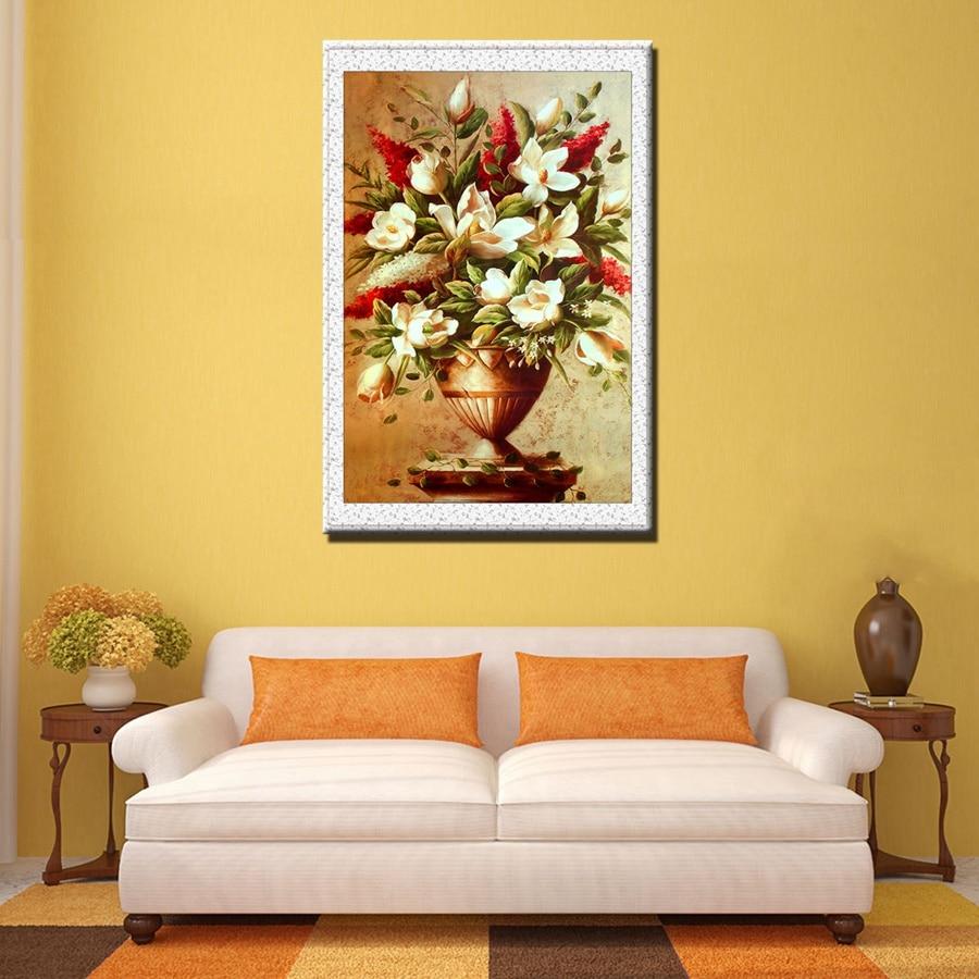 Beautiful Painting Printings Decorative Flower Bonsai Wall Canvas ...