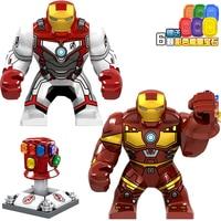 20Pcs/Lot Legoed Building Blocks Super Heroes Avengers 4 Endgame Iron Man Action Figures For Children Toys D206