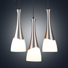 E27 bulb LED Pendant chandelier light metal glass hanging light lamparas colgantes suspension luminaire lustres para