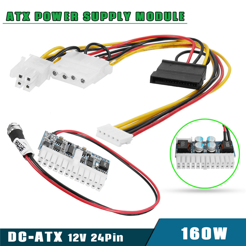 High Quality 160W 24Pin DC 12V Pico ATX Switch PSU Auto Car Mini ITX High Power Supply Module цены