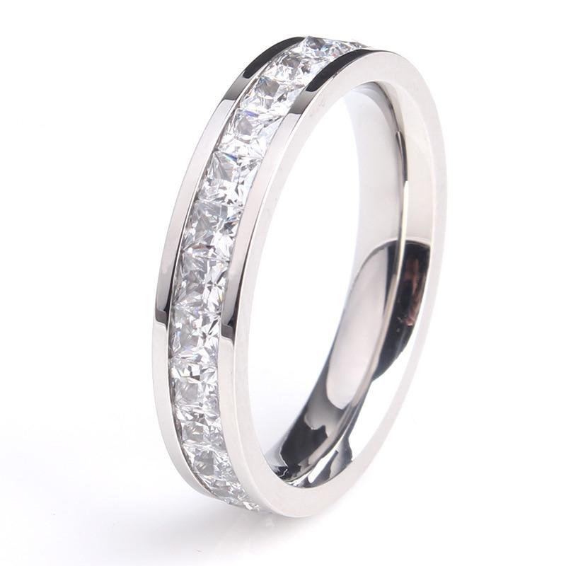 KNOCK  Girls Geometric Ring  Filled & Rose Gold Ring Promise Wedding Engagement Rings For Women Best Gifts 5