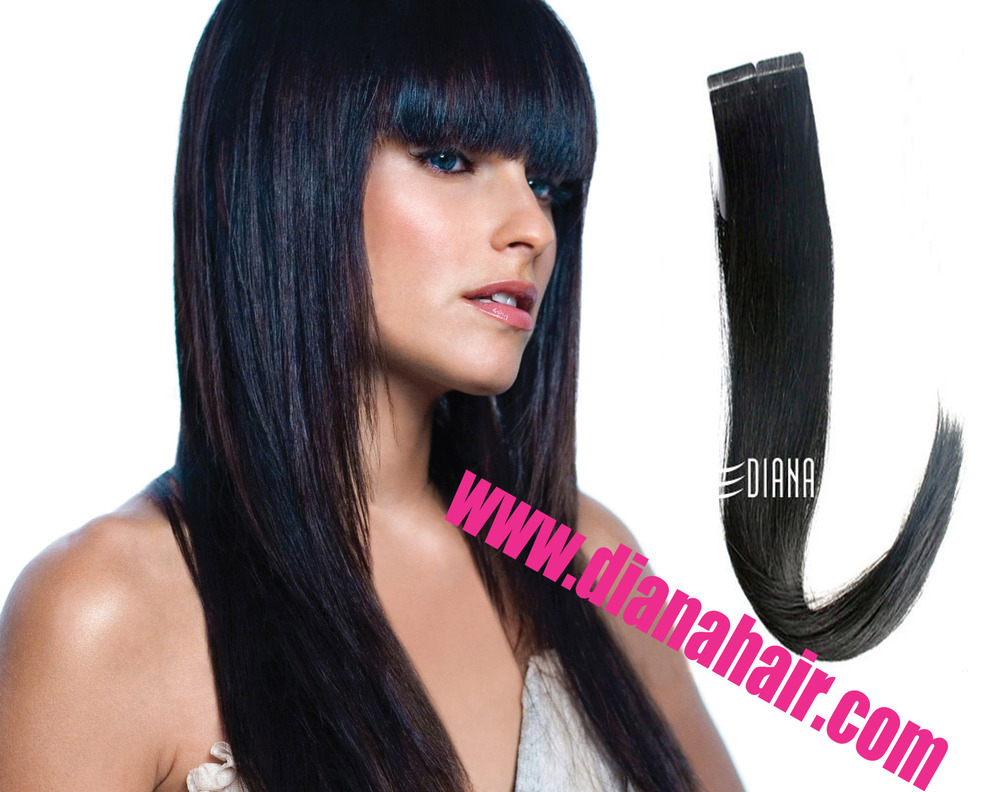 Super Blue Tape In Hair Extensionsrussion Virgin Remy Pre Taped