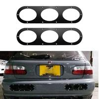 2Pcs Car Styling Car Rear Bumper Race Air Diversion Diffuser Panels High Quality Auto Exterior Accessories